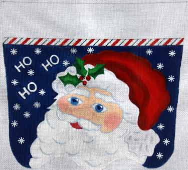 click here to view larger image of HoHoHo Santa Stocking Cuff (hand painted canvases)