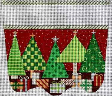 click here to view larger image of Oh Christmas Tree Stocking Cuff - 13ct (hand painted canvases)