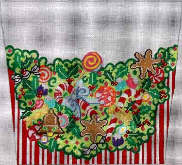 click here to view larger image of Christmas Sweets Stocking Cuff (hand painted canvases)