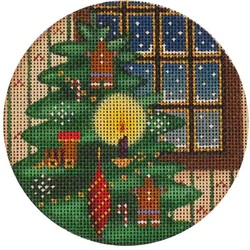 click here to view larger image of Candle Light Tree Ornament (hand painted canvases)