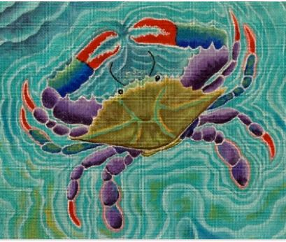 click here to view larger image of Blue Swimmer (hand painted canvases)