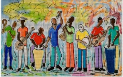 click here to view larger image of Music Men (hand painted canvases)