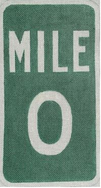 click here to view larger image of Mile Zero (hand painted canvases)