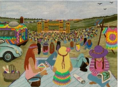 click here to view larger image of Woodstock Stitchers (hand painted canvases)
