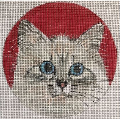 click here to view larger image of Birman Cat Ornament (hand painted canvases)