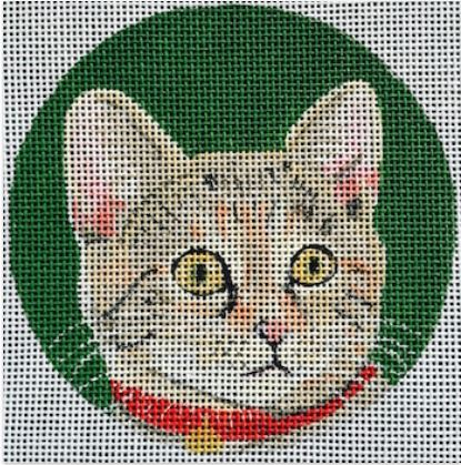 click here to view larger image of Calico Cat Ornament (hand painted canvases)