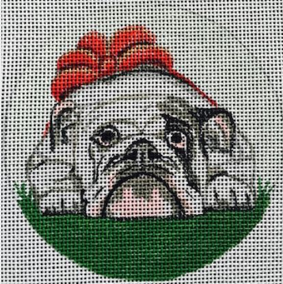 click here to view larger image of English Bulldog Ornament (hand painted canvases)