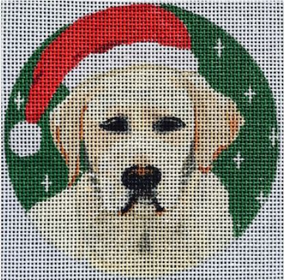 click here to view larger image of Golden Lab Ornament (hand painted canvases)