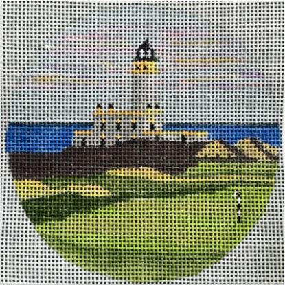 click here to view larger image of Turnberry Lighthouse Ornament (hand painted canvases)