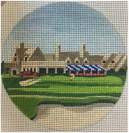 click here to view larger image of Winged Foot, NY Ornament (hand painted canvases)