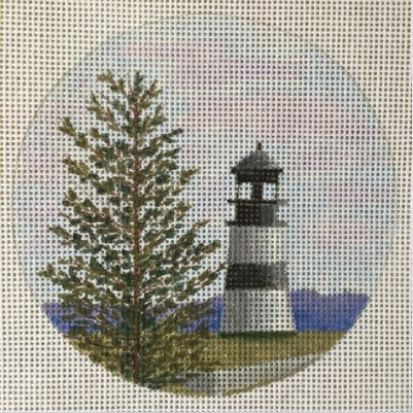 click here to view larger image of Cape Disappointment Light - WA Ornament (hand painted canvases)