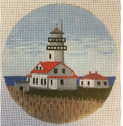 click here to view larger image of Cape Flattery Light - WA Ornament (hand painted canvases)