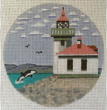 click here to view larger image of Lime Kiln Light - WA Ornament (hand painted canvases)