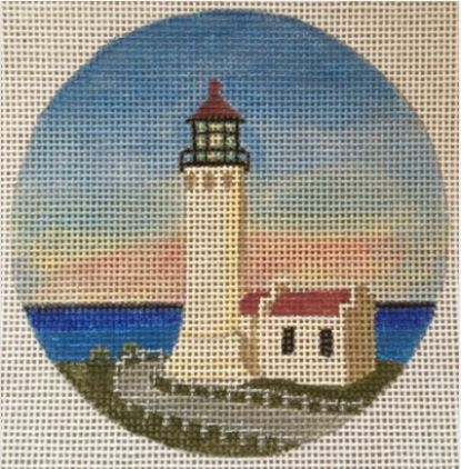 click here to view larger image of North Head Light - WA Ornament (hand painted canvases)