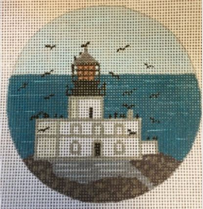 click here to view larger image of Tillamook Rock Light - OR Ornament (hand painted canvases)