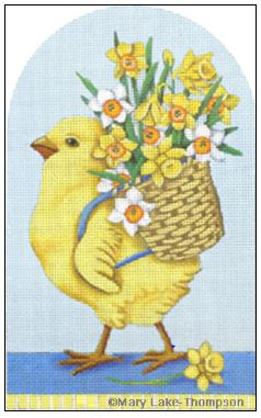 click here to view larger image of Basket Chick (hand painted canvases)