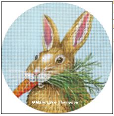 click here to view larger image of Carrot Bunny Ornament (hand painted canvases)