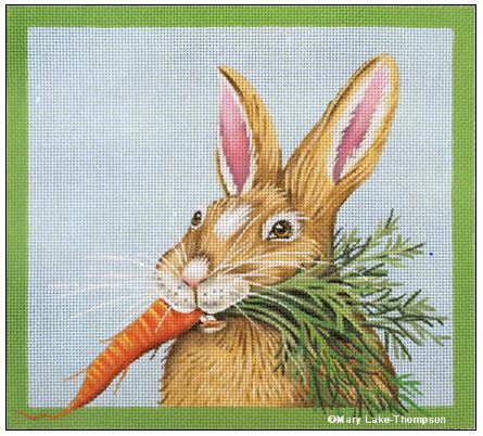 click here to view larger image of Carrot Bunny (hand painted canvases)