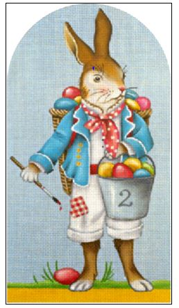 click here to view larger image of Easter Egg Bunny (hand painted canvases)