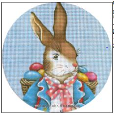 click here to view larger image of Easter Bunny Ornament (hand painted canvases)