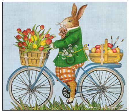 click here to view larger image of Easter Bunny Bike (hand painted canvases)