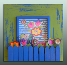 click here to view larger image of Frame for Flowerz 4 (Custom painted frames)