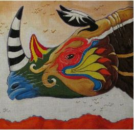 click here to view larger image of Butterfly Rhino (hand painted canvases)