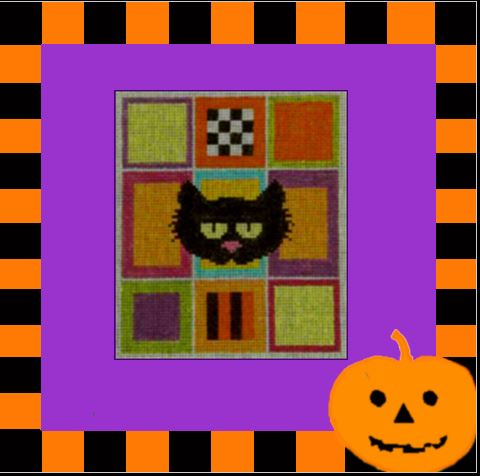 click here to view larger image of Cat Sampler (hand painted canvases)