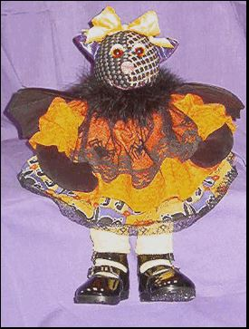 click here to view larger image of Girl Bat Shelf Sitter (hand painted canvases)