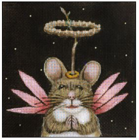 click here to view larger image of Angel Mouse (hand painted canvases)