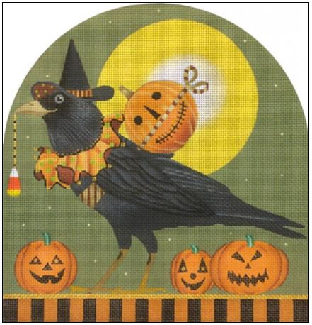click here to view larger image of Halloween Raven Dome (hand painted canvases)