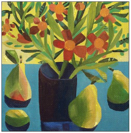 click here to view larger image of Summer Pears (hand painted canvases)
