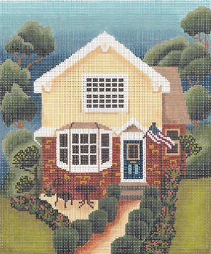 click here to view larger image of Picket Fence House (hand painted canvases)