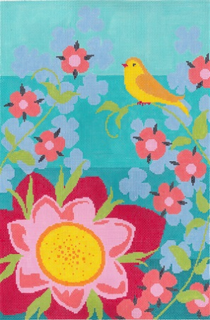 click here to view larger image of Goldfinch Garden (hand painted canvases)