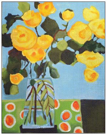 click here to view larger image of Yellow Roses (hand painted canvases)