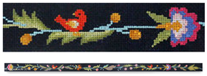 click here to view larger image of Midnight Garden Belt (hand painted canvases)