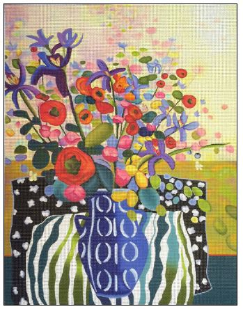 click here to view larger image of Spring In The Air (hand painted canvases)