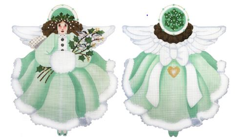 click here to view larger image of Wintergreen Angel (hand painted canvases)