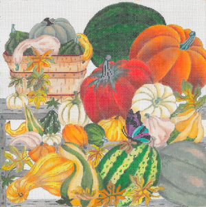 click here to view larger image of Autumn Farmers Market (No Border) (hand painted canvases)