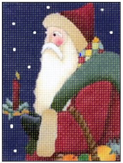 Candle Santa hand painted canvases