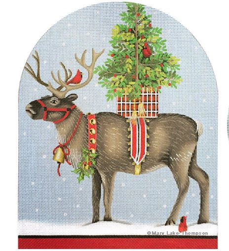 click here to view larger image of Christmas Reindeer (hand painted canvases)