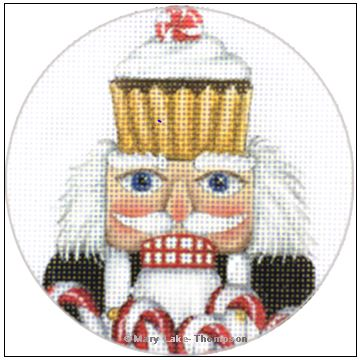 click here to view larger image of Cook Nutcracker Ornament (hand painted canvases)