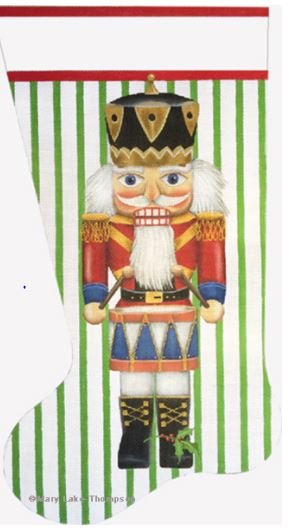 click here to view larger image of Drummer Nutcracker Stocking (hand painted canvases)