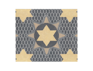 click here to view larger image of Medallion Star Taupe Tefillin (hand painted canvases)