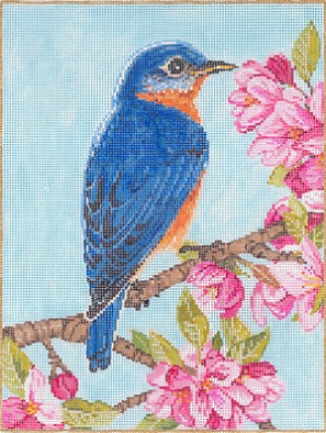 click here to view larger image of Bluebird (hand painted canvases)