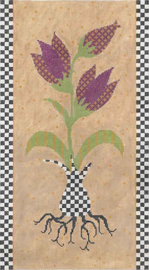 click here to view larger image of Inspired Tulips (hand painted canvases)