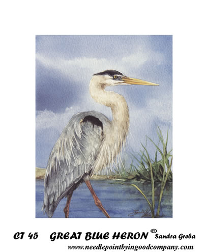 click here to view larger image of Great Blue Heron (hand painted canvases)