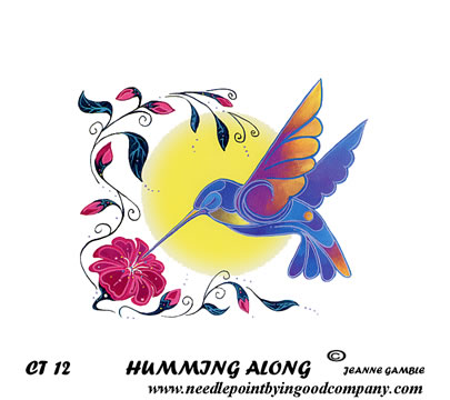 click here to view larger image of Humming Along (hand painted canvases)