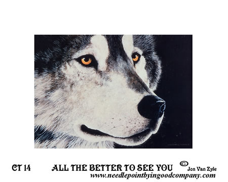 click here to view larger image of All The Better To See You (hand painted canvases)