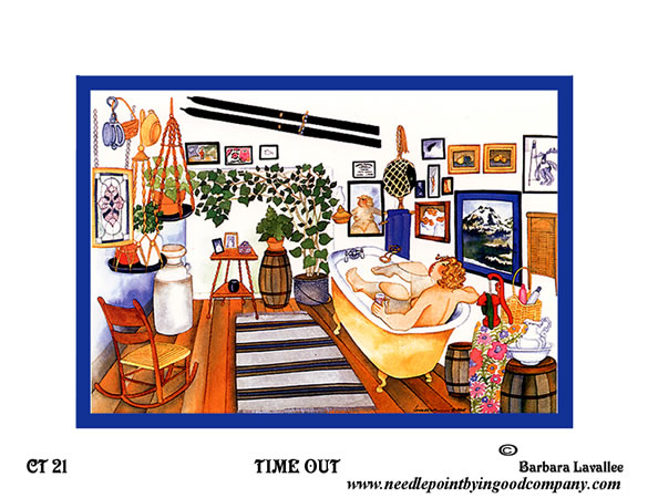 click here to view larger image of Time Out (hand painted canvases)